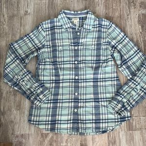 New very soft LL Bean flannel top